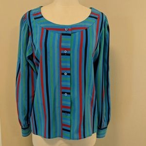 Ysl striped silk blouse